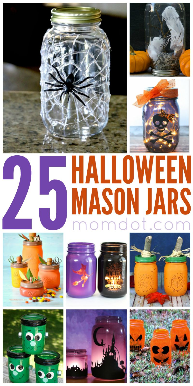 25 Halloween Mason Jar Ideas - #masonjarcrafts