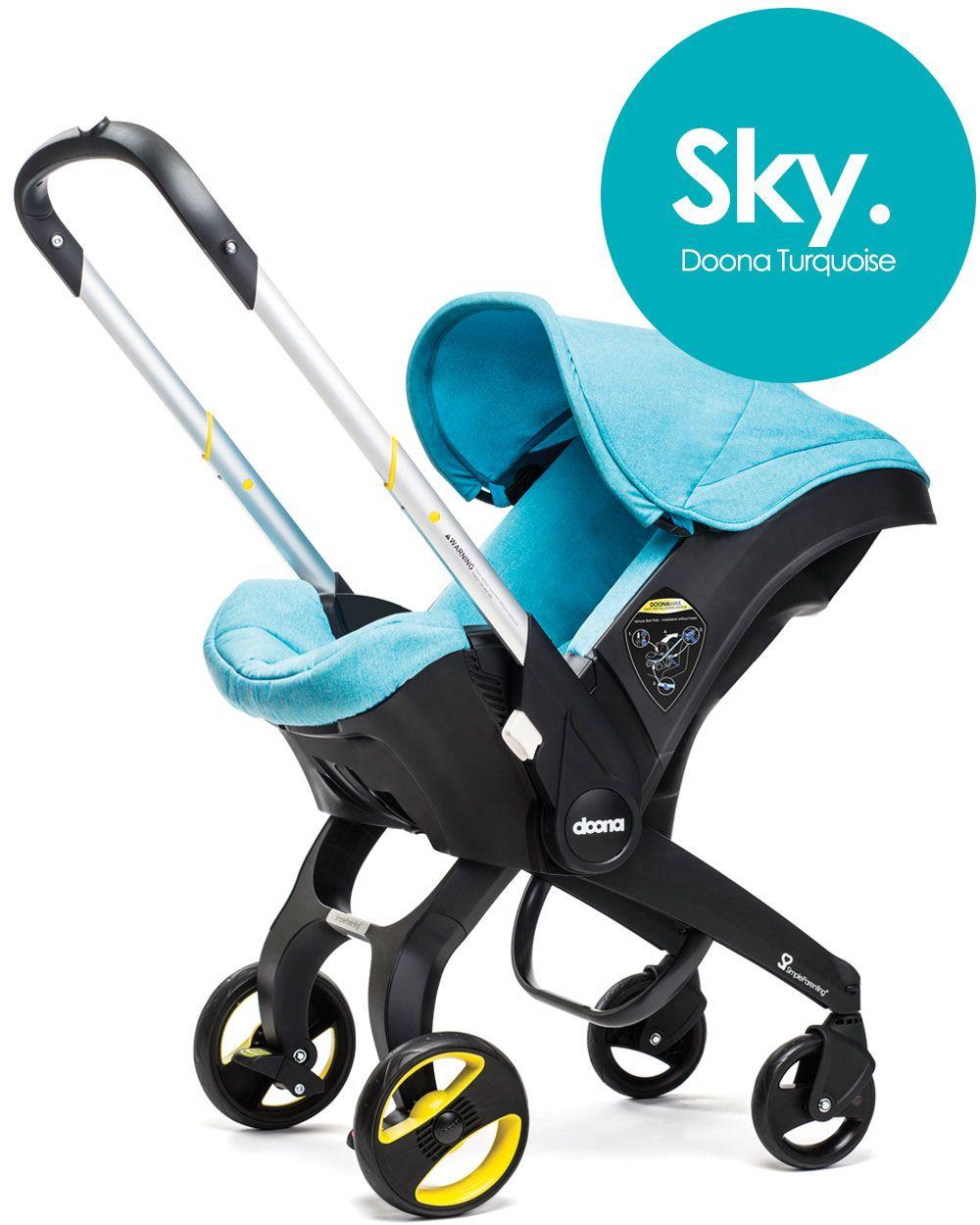 Doona Turquoise/Sky Doona car seat stroller, Baby car