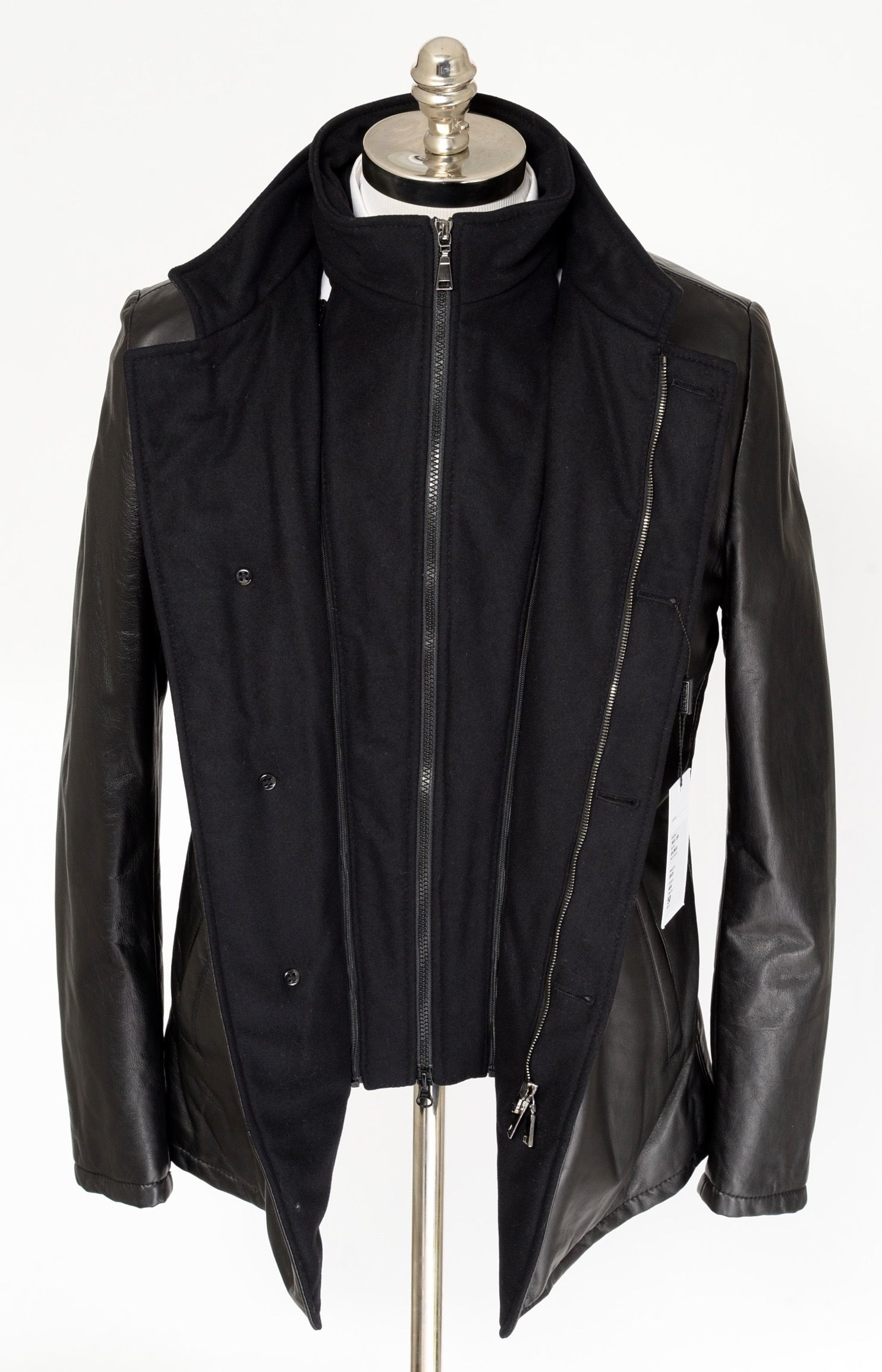 Mens Di Bello Italy Black Leather Cashmere Zip Car Coat 4btn Jacket Get In There Http Www Frieschskys Com Ou Menswear Mens Designer Fashion Coat Fashion [ 2307 x 1484 Pixel ]