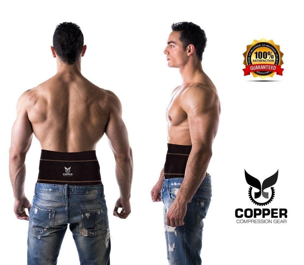 Copper compression gear premium fit lower back lumbar