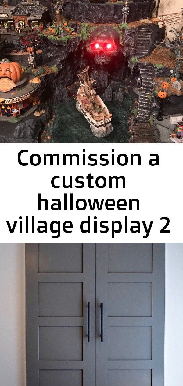 Commission a custom halloween village display 2 #halloweenvillagedisplay Commission a Custom Halloween Village Display | Etsy Custom Build: Classic 4 Panel Sliding Barn Door Hinge Pocket | Etsy Village of Peace Decor #halloweenvillagedisplay