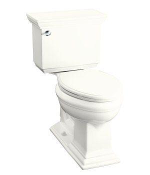 Kohler K 3526 0 Memoirs Stately Design Comfort Height Elongated 2 Piece Toilet White Bathroom Faucets Kohler Kitchen Faucet