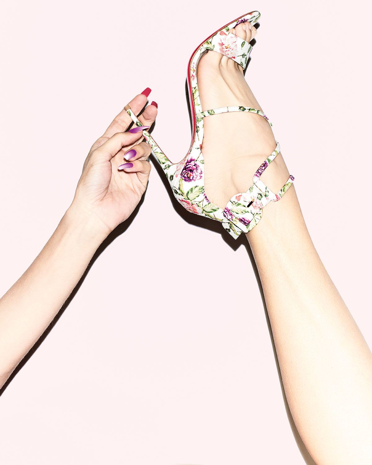 db0082b270 We love floral prints for spring, so this Christian Louboutin Choca Floral  Snake Red Sole