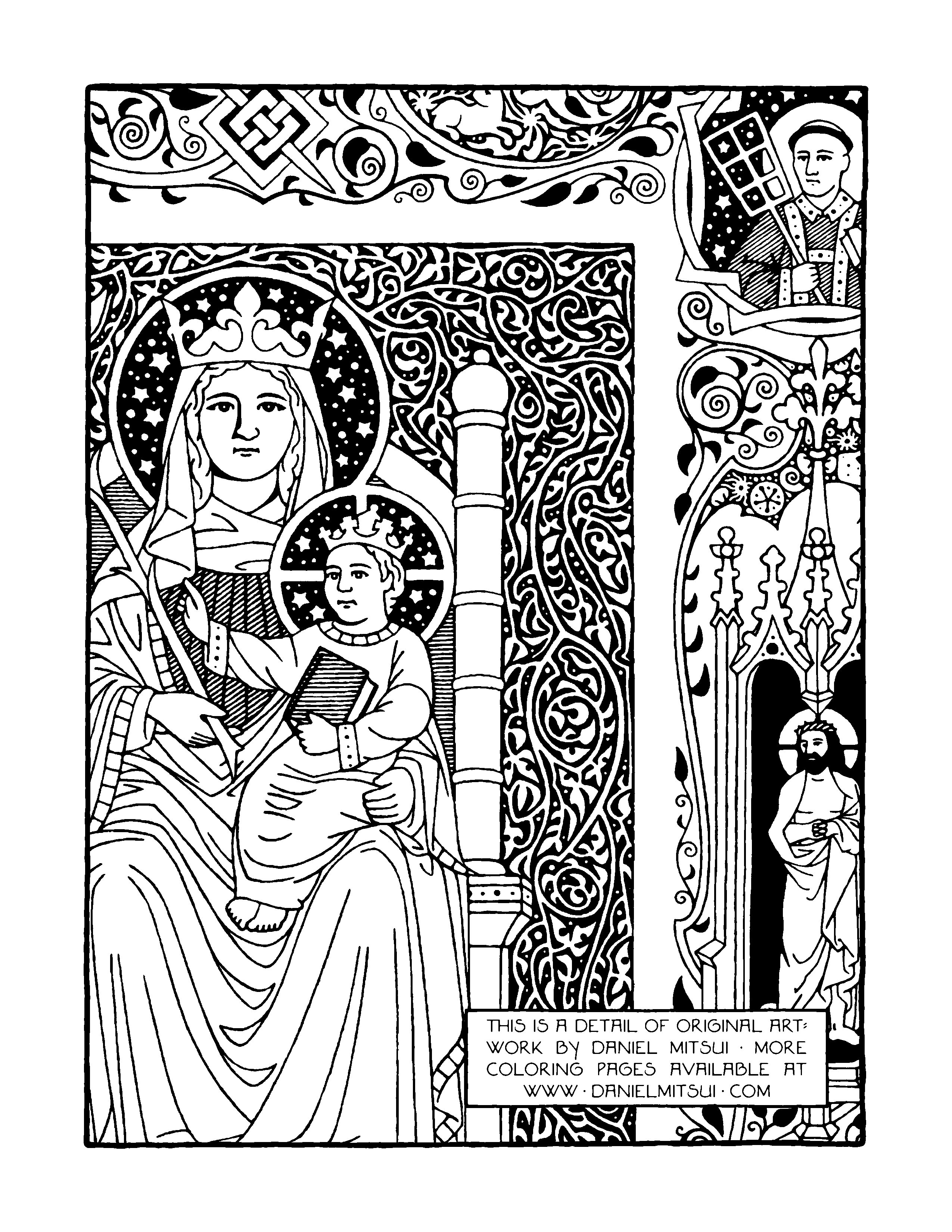 amazing catholic coloring pages daniel mitsui please read his
