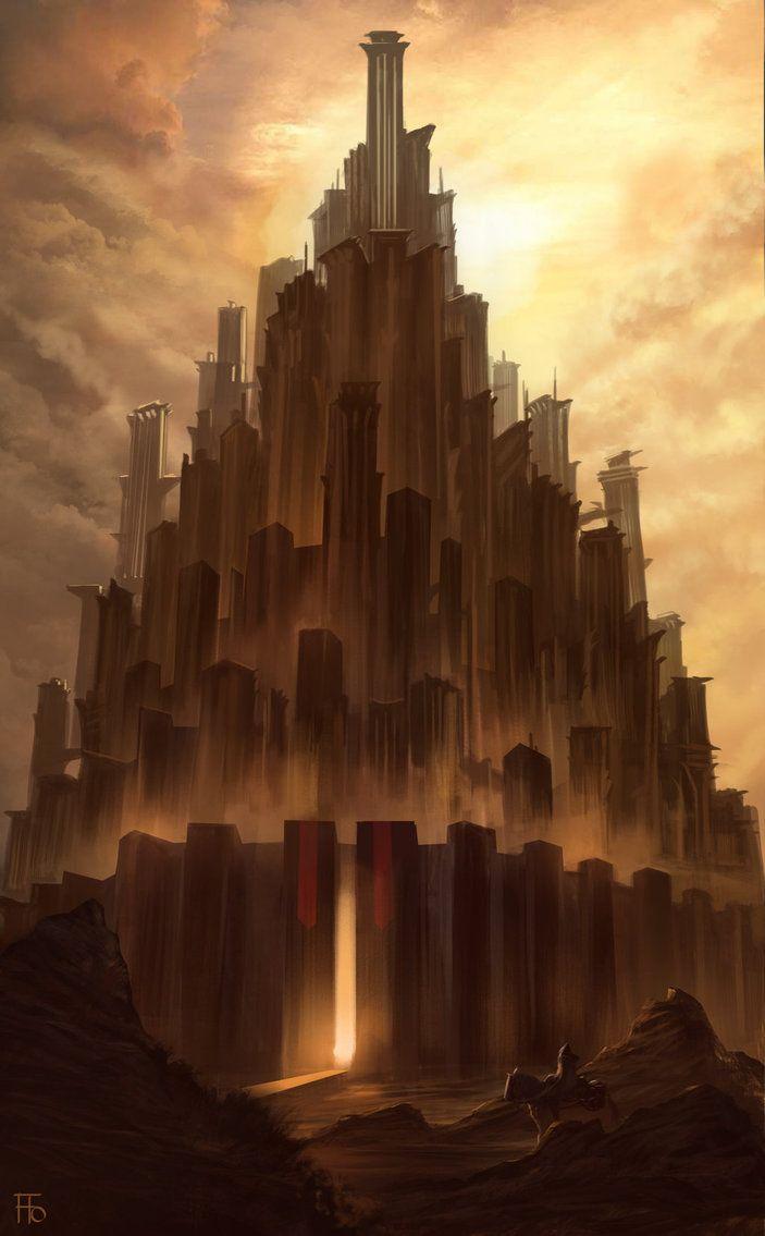 City sketch by florentllamas on deviantart fantasy plains city