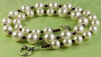Timeless pearl and garnet necklace jewelry design ideas diy timeless pearl and garnet necklace jewelry design ideas audiocablefo