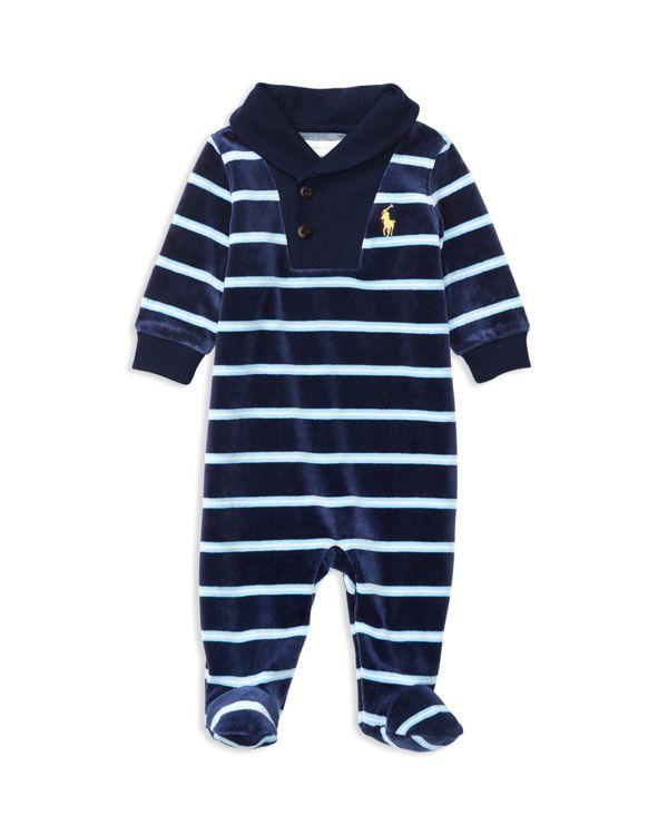 9695c3df Ralph Lauren Childrenswear Infant Boys' Striped Velour Coverall - Sizes 0-12  Months