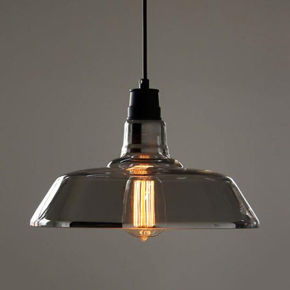 Tinted Glass Shade Industrial Pendant Light Ceiling Light