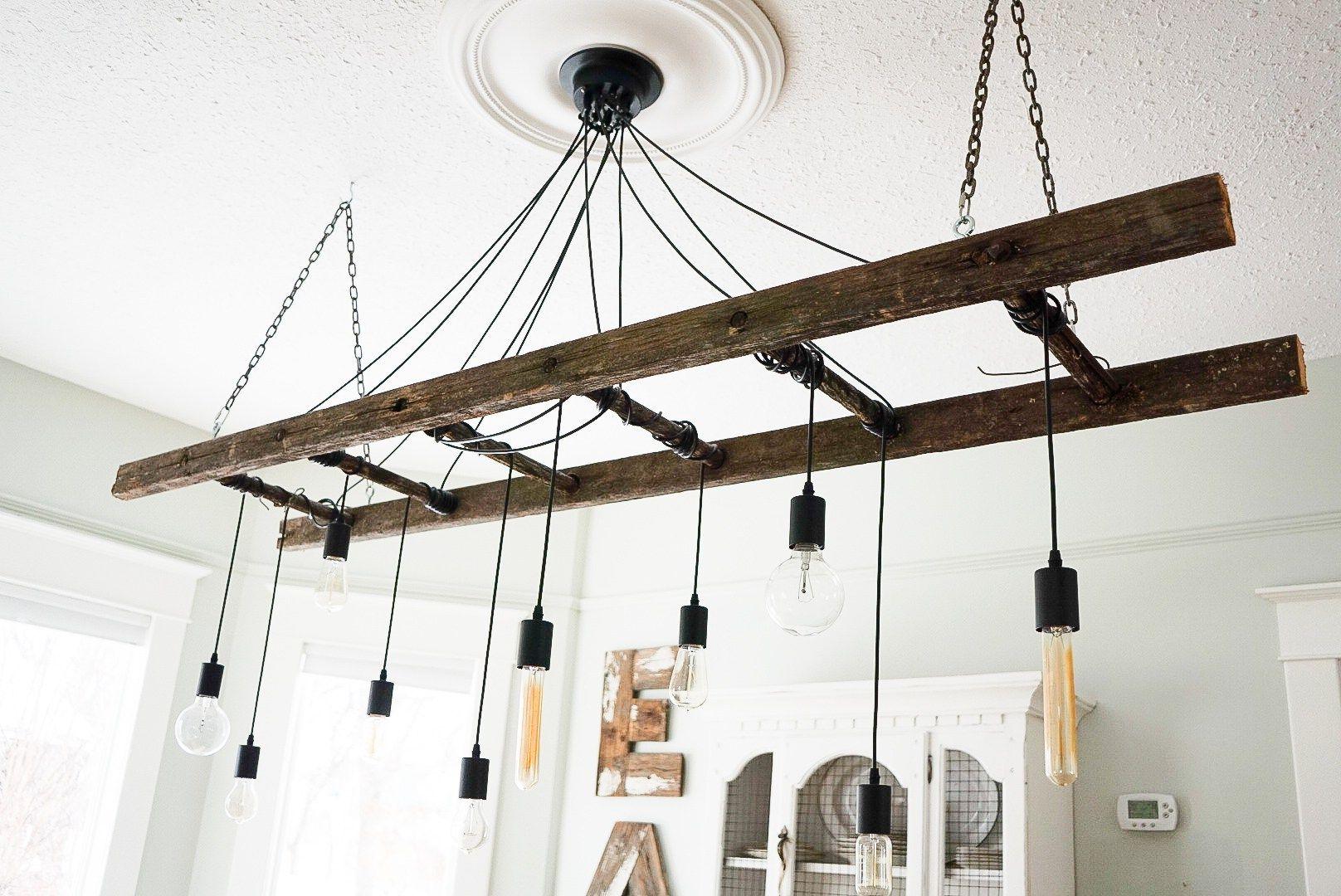 How To Make A Diy Industrial Edison Bulb Chandelier Edison Bulb