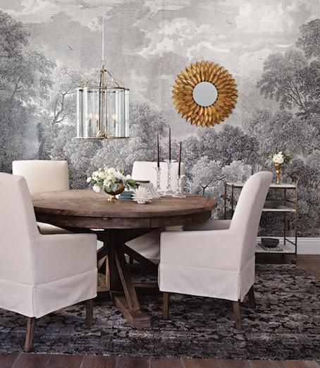 Giving thanks btd jeremiah brent accent walls in - Dining room wallpaper accent wall ...