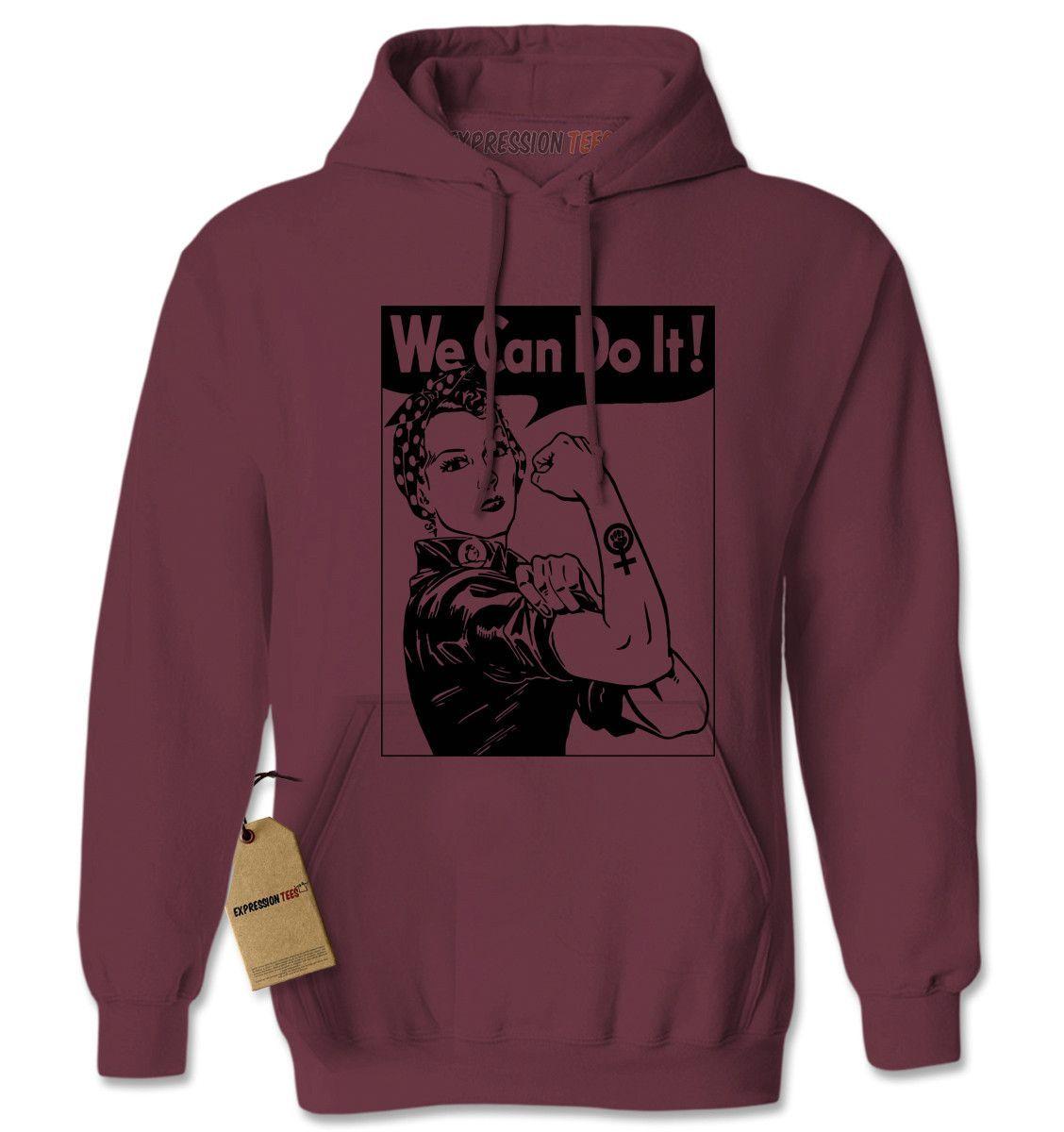 Rosie The Riveter Adult Hoodie Sweatshirt