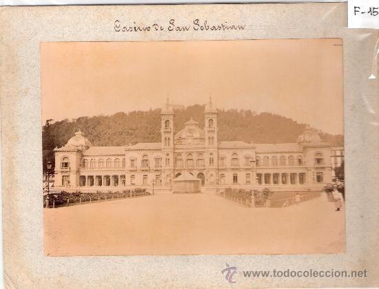 Fotografía antigua: SAN SEBASTIAN-CASINO-CARTON 16X21-FOTO 12X17-(F-15) - Foto 1 - 23803089