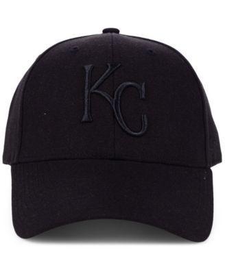 new style d06aa 4f2cb  47 Brand Kansas City Royals Black Series Mvp Cap - Black Adjustable