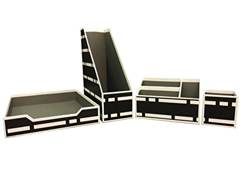 piece amazoncom set halter organizer steel l eulanguages oval desk net mesh