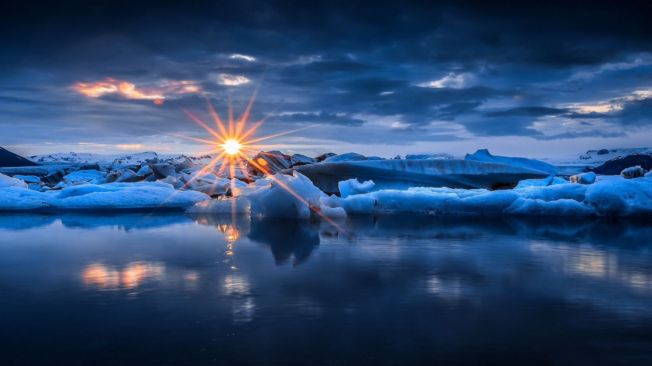Earth Sunset Earth Nature Ocean Winter Ice Snow Sunbeam