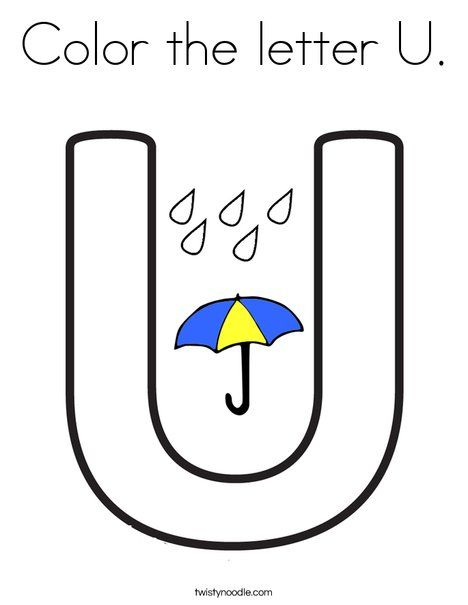 Color The Letter U Coloring Page Coloring Pages Lettering Flag Coloring Pages