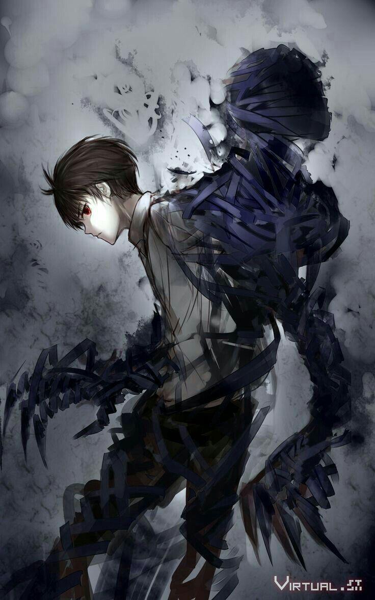 Anime Boy Darkness Shadows Bandages Mummy Monster Demon Anime