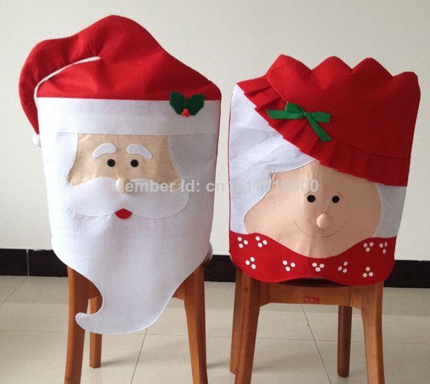 Copri Sedia Babbo Natale E La Moglie #coprisedia #natale #babbonatale