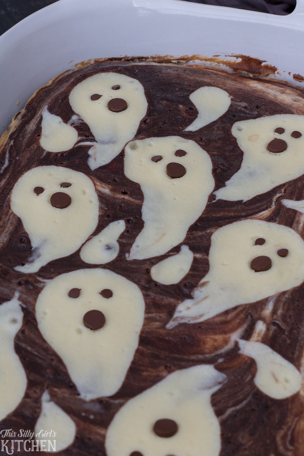 Ghost Cheesecake Brownies This Silly Girl's Kitchen