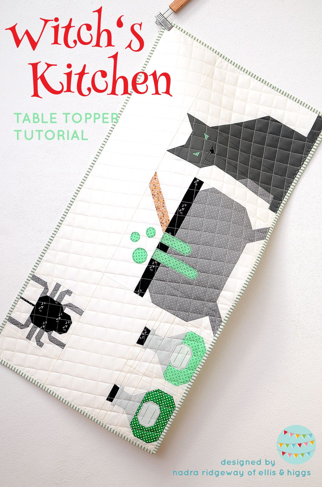 New Halloween Quilt Patterns: Cat Quilt Pattern #tippsundtricks