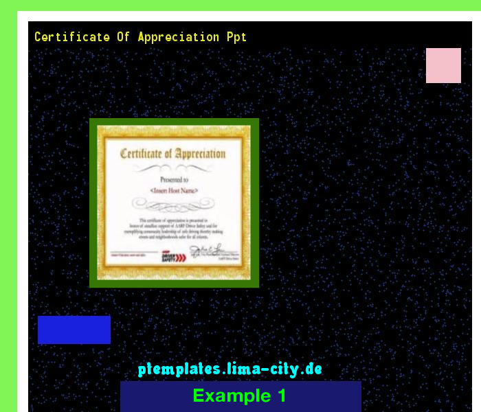 Certificate Of Appreciation Ppt Powerpoint Templates 135247 The