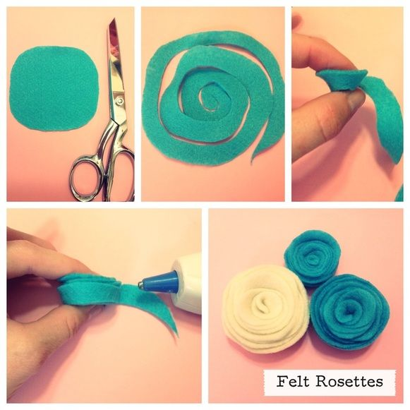 Felt Rosette's Tutorial, follow our blog!  #DIY