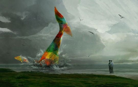 """Whales"" by Sergey Ryzhov on #INPRNT - #illustration #print #poster #art"