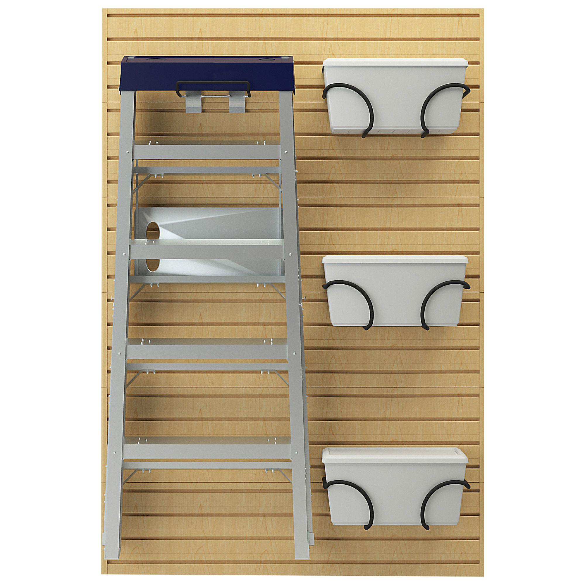 5-Piece Ladder Hook & Bin Bracket Set