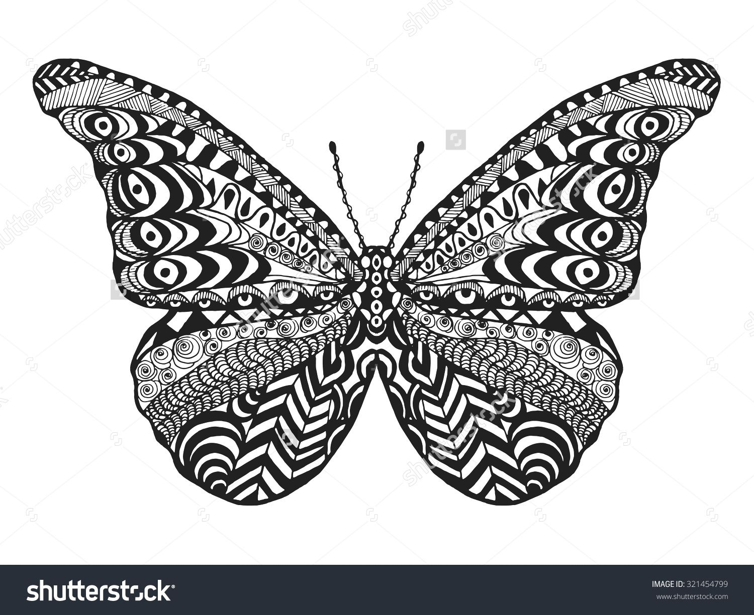 butterfly outline scrollwork coloring book style google search