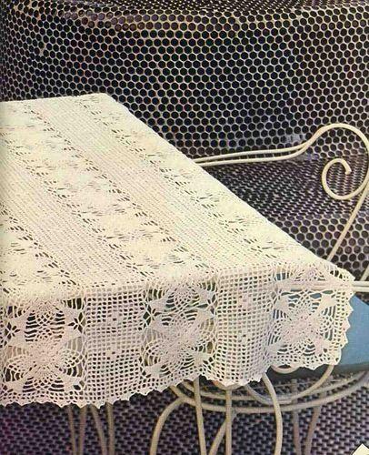 Toalhinha de croche retangular