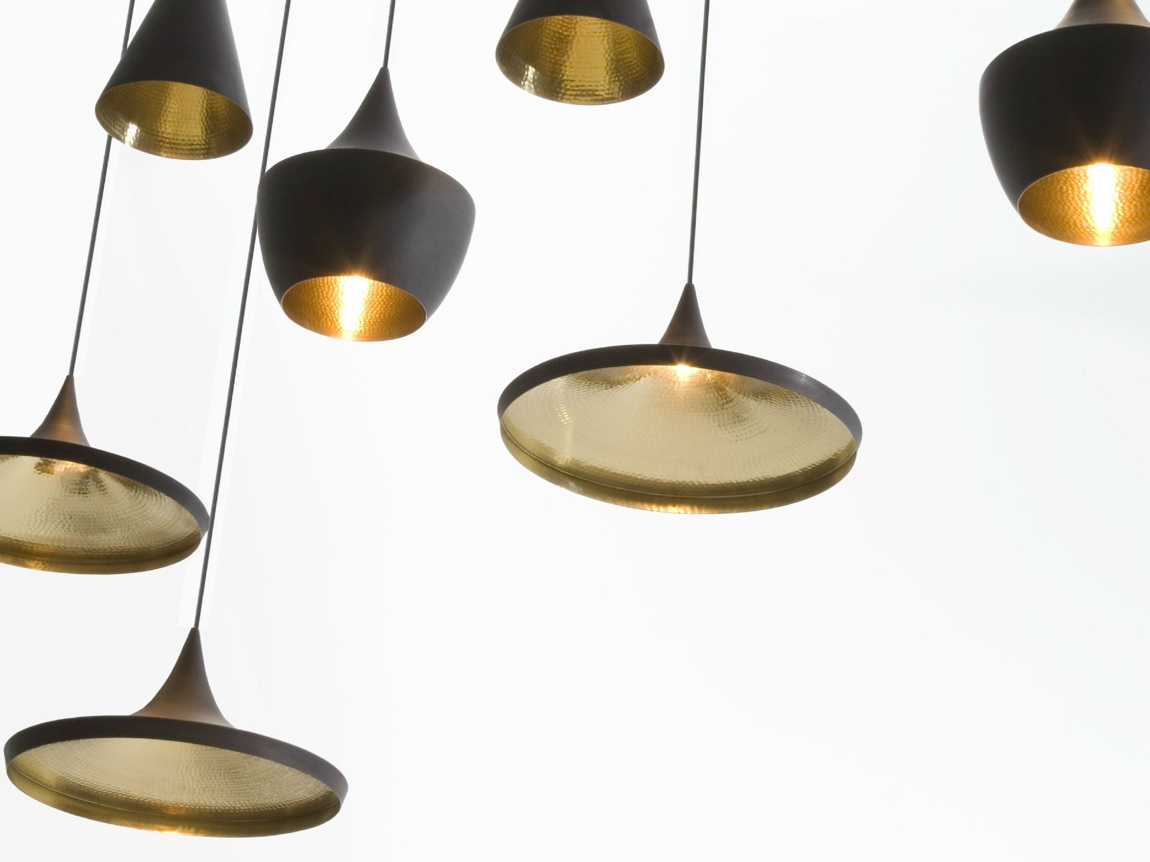 BRASS PENDANT LAMP BEAT LIGHT WIDE BEAT COLLECTION BY TOM DIXON | DESIGN TOM  DIXON