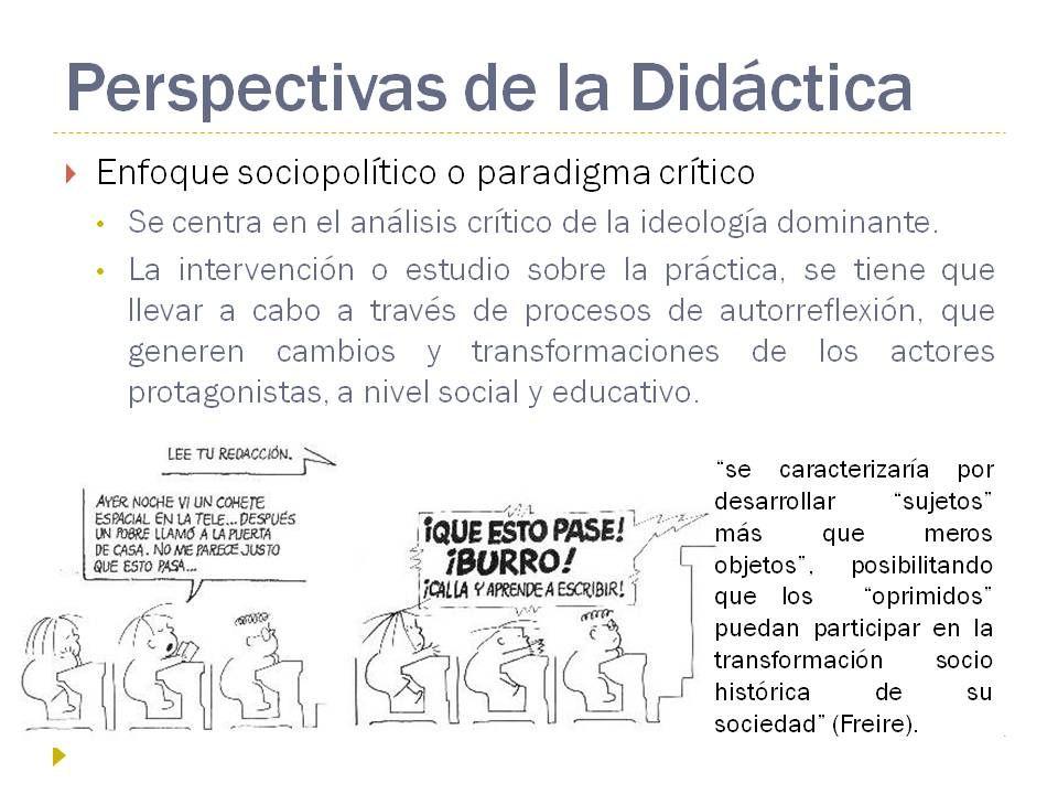 Un Pequeno Montaje Que Prepare Sobre El Paradigma Critico Para Introducirlo En Una Clase Didactico Educacion Intervencion