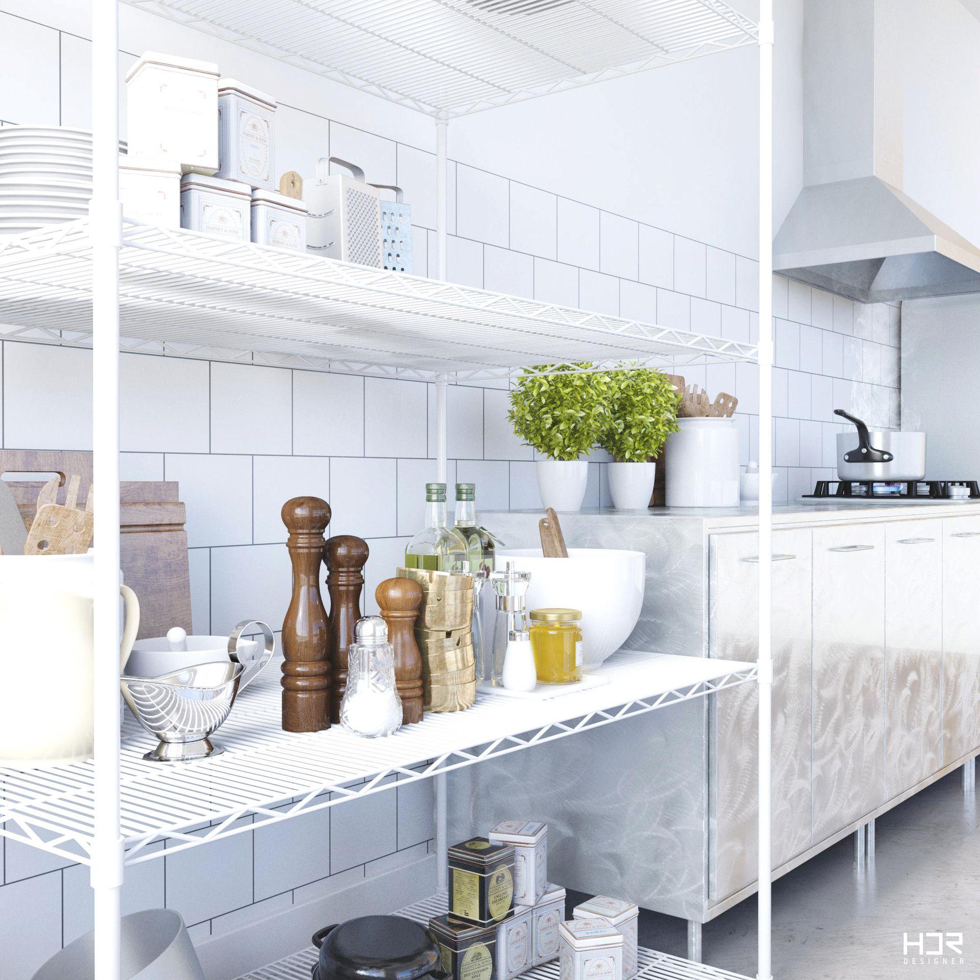 Scandinavian Kitchen Design and 3D: Heder Perdigão | Room Editor ...
