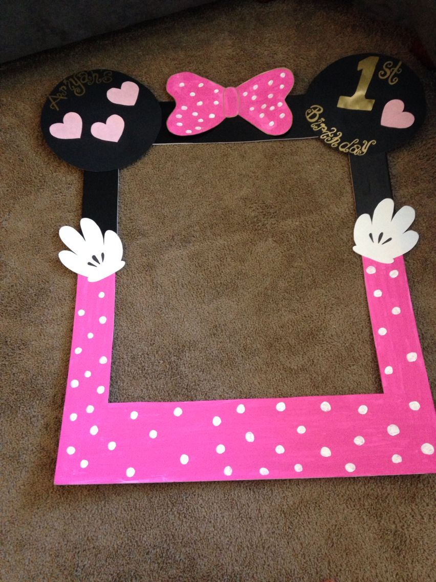 Minnie Mouse photo/picture frame | Ari\'s birthday | Pinterest ...