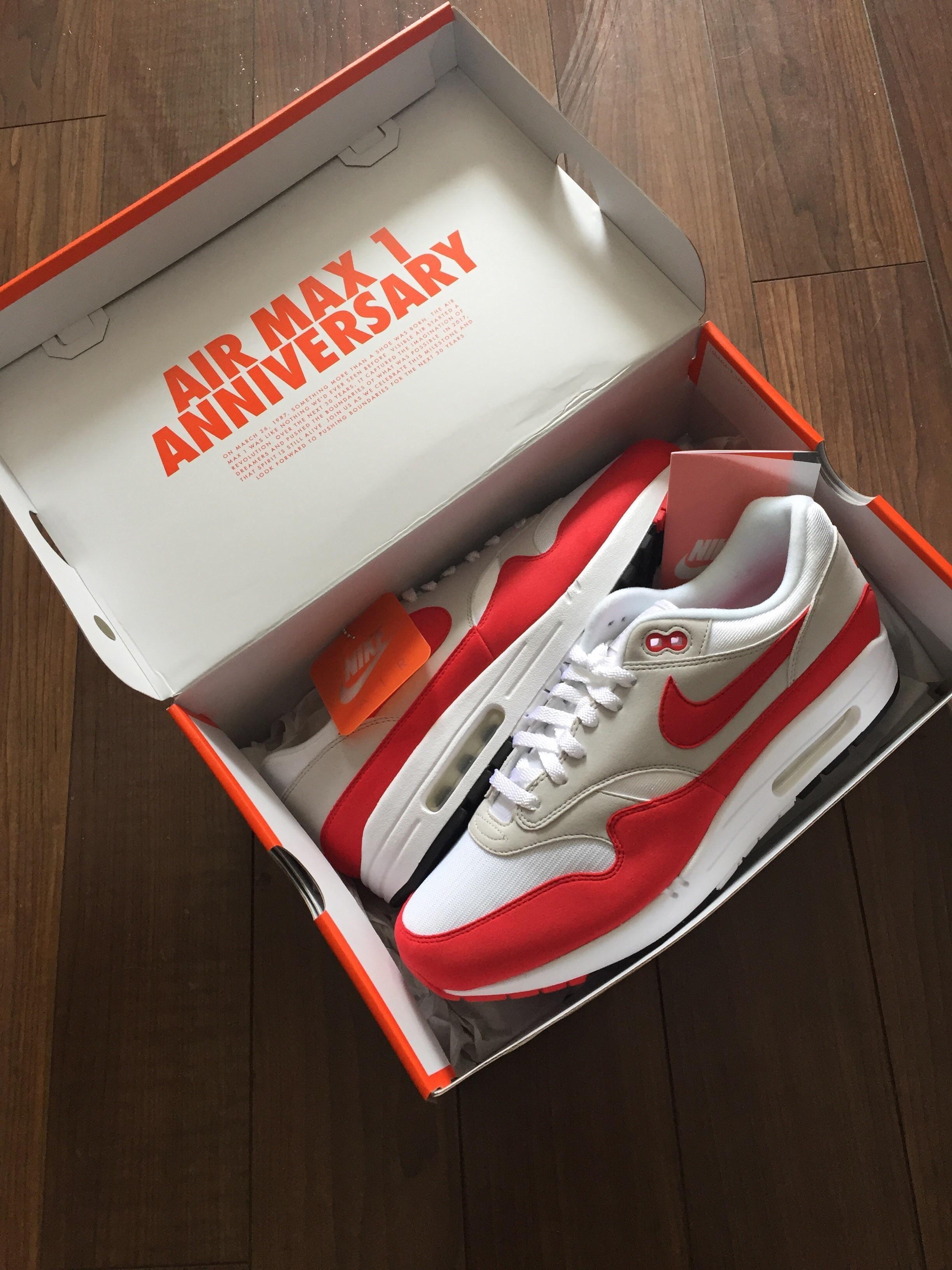 "[PICKUP] Kiss my Airs AIRMAX 1 ""OG Red Anniversary"