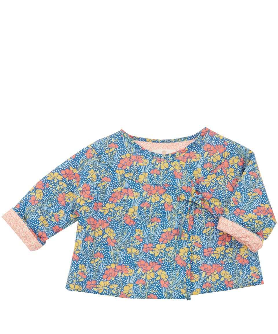 Liberty London Childrenswear Baby Girl Cranston Print Quilted ... : baby quilted coat - Adamdwight.com