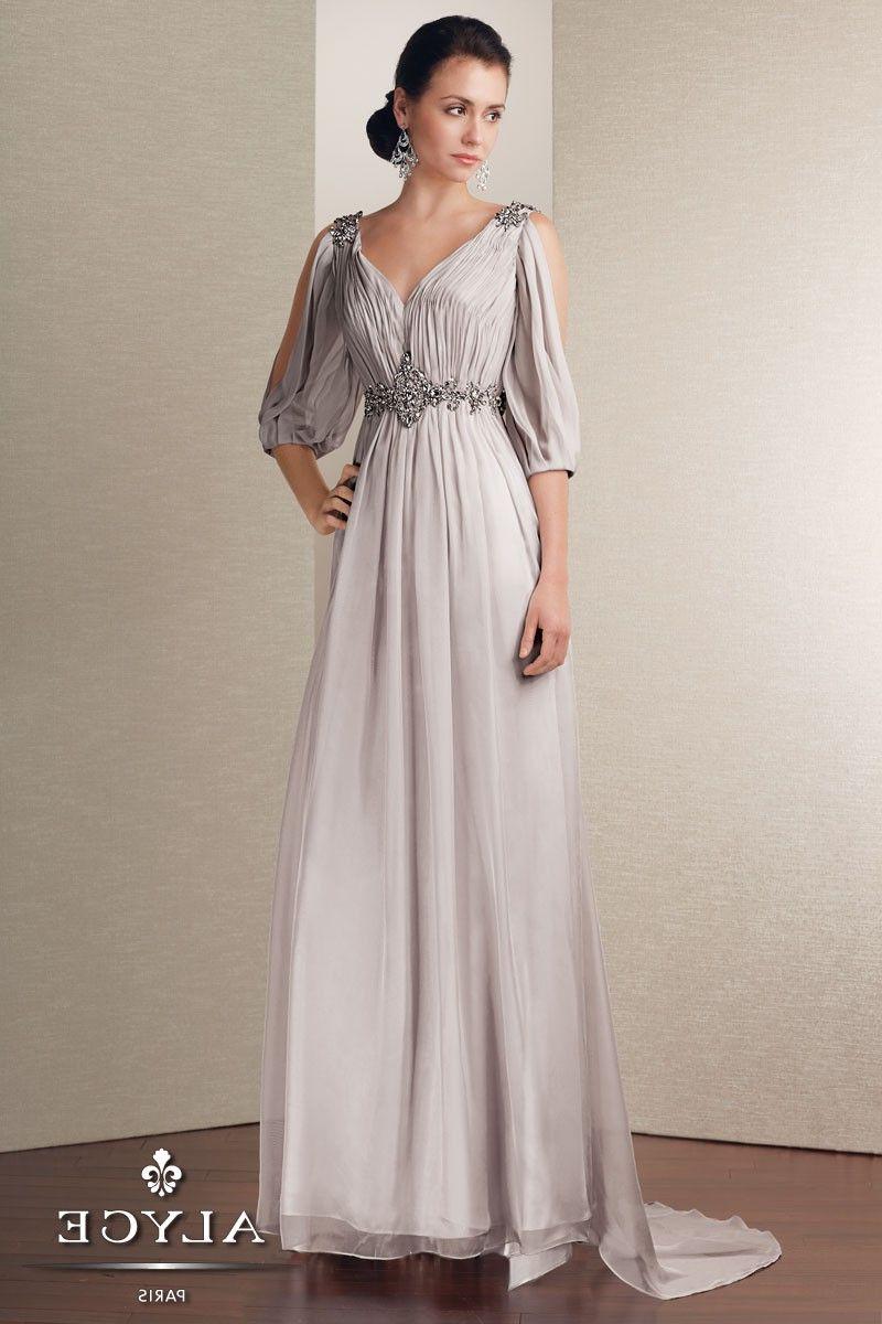 Long Sleeve Grecian Gown | LongSleeve Dress | Pinterest | Grecian ...