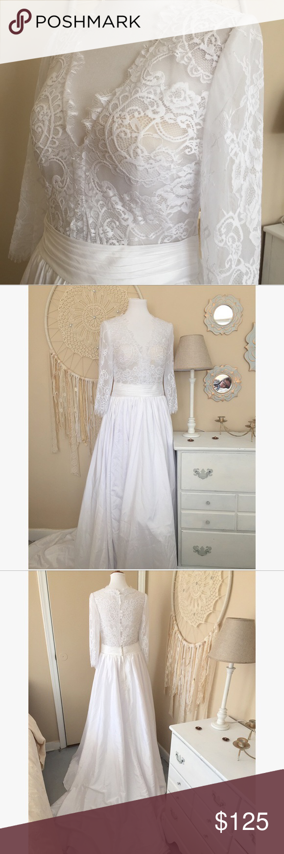 Gorgeous NWT White Lace Wedding Gown Dress This wedding dress is NWT by Jen  Jen House 572cfedaf