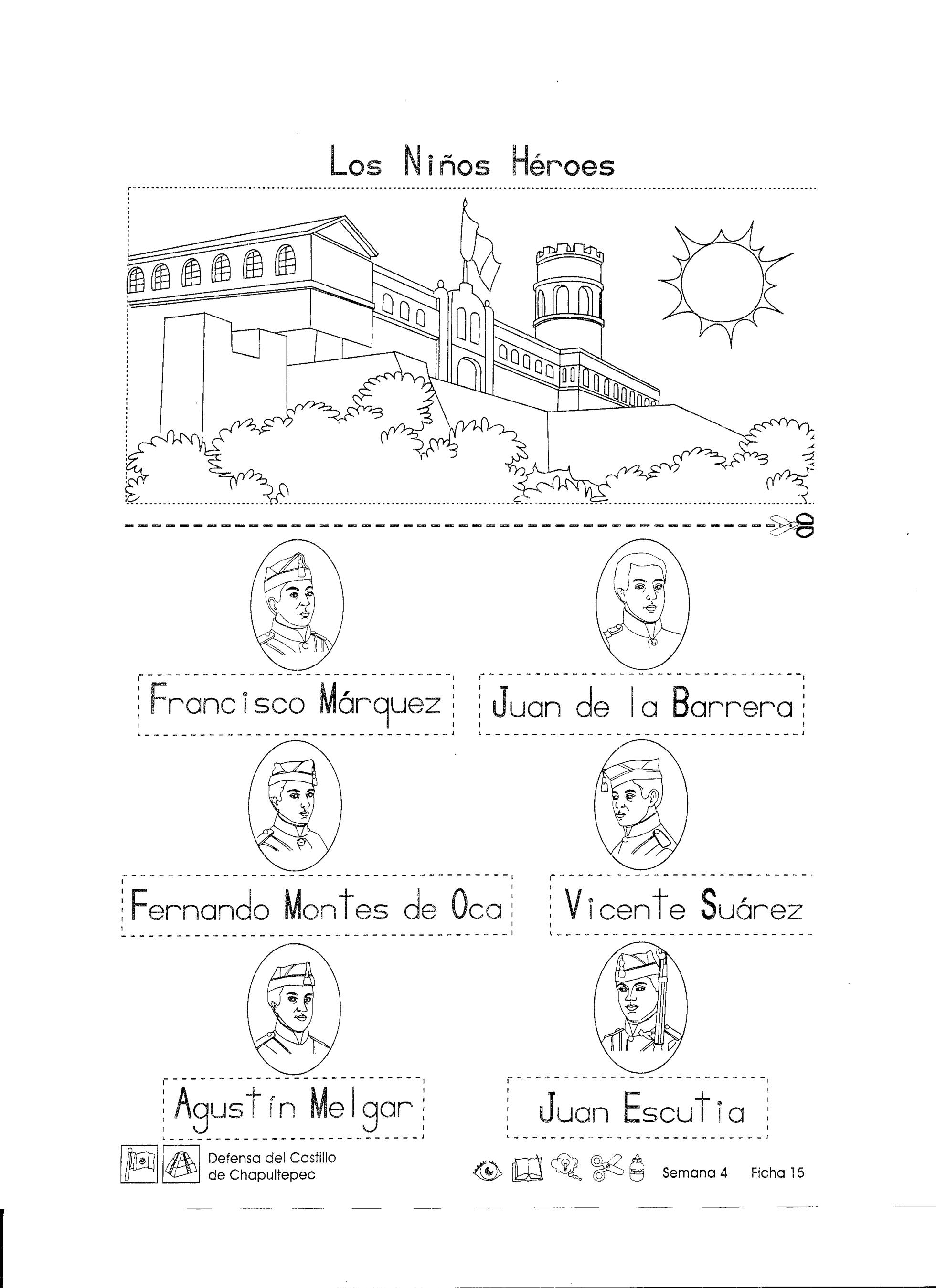 Defensa Del Castillo De Chapultepec 1er Grado Material De Aprendizaje Fichas Ninos Heroes De Chapultepec Los Ninos Heroes