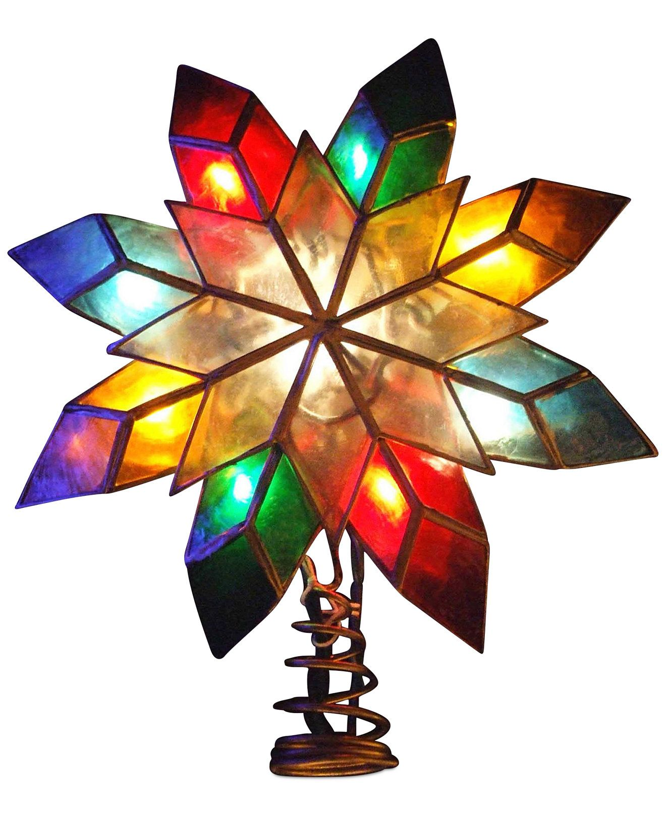 Kurt Adler Multicolored Star Tree Topper  Holiday Lane