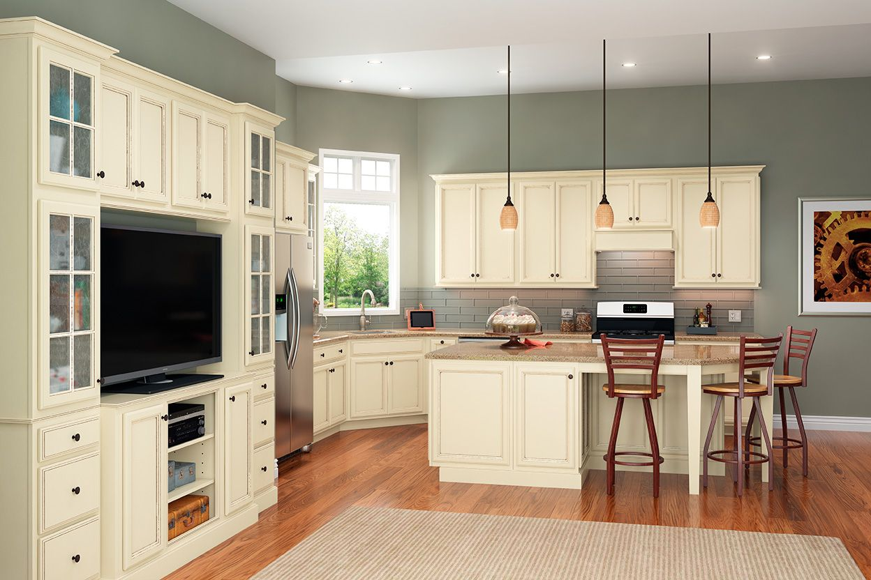 Dominion Painted Hazelnut Glaze Kitchen Islands In 2019