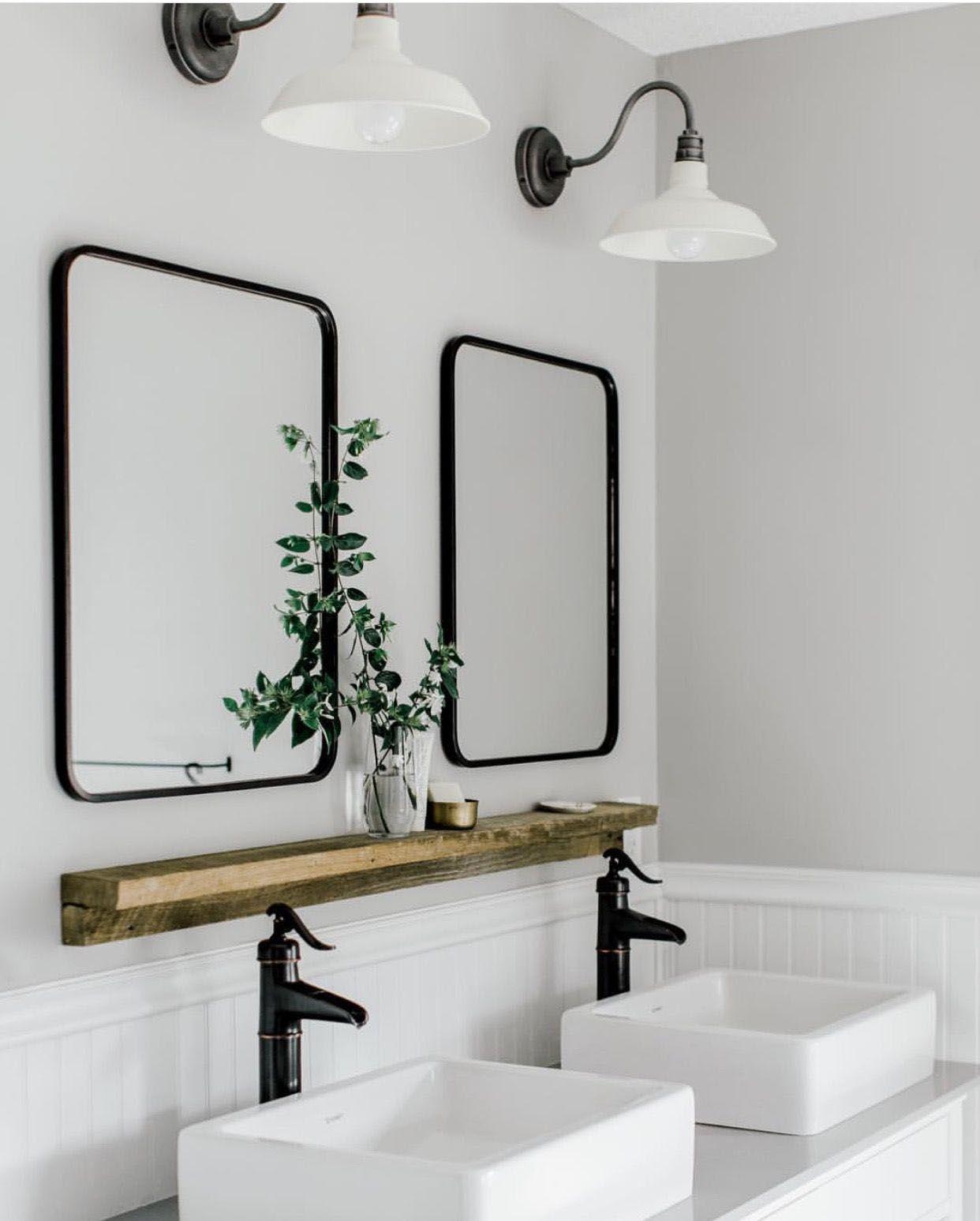 42+ Black bathroom mirrors ideas