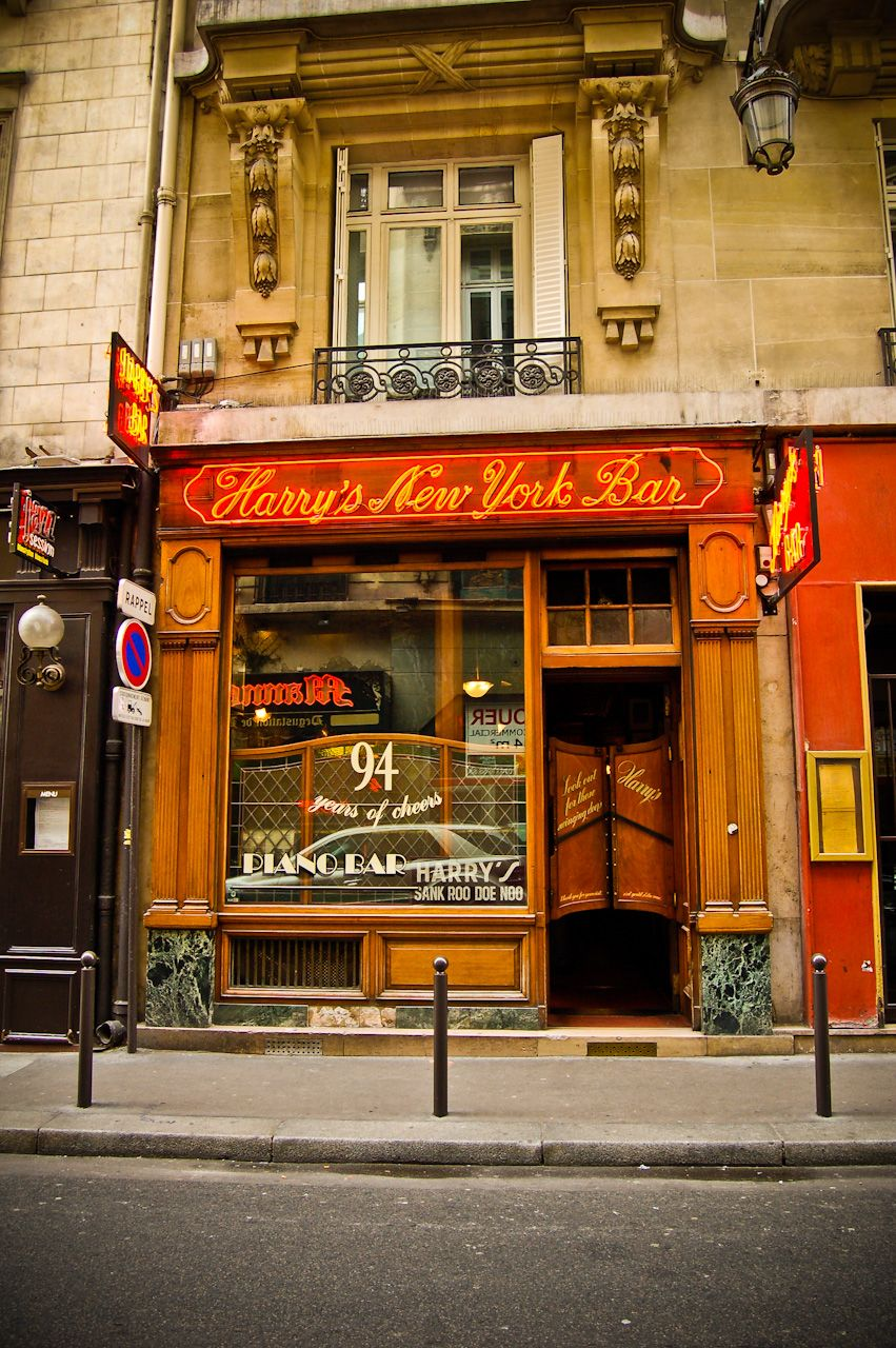 Harry's New York Bar - Paris, France.  Can't wait to have a French 75 at this place!
