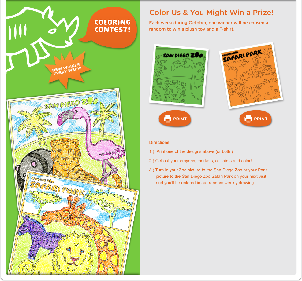 San Diego Zoo Has Cool Coloring Pages Coloring Pinterest San
