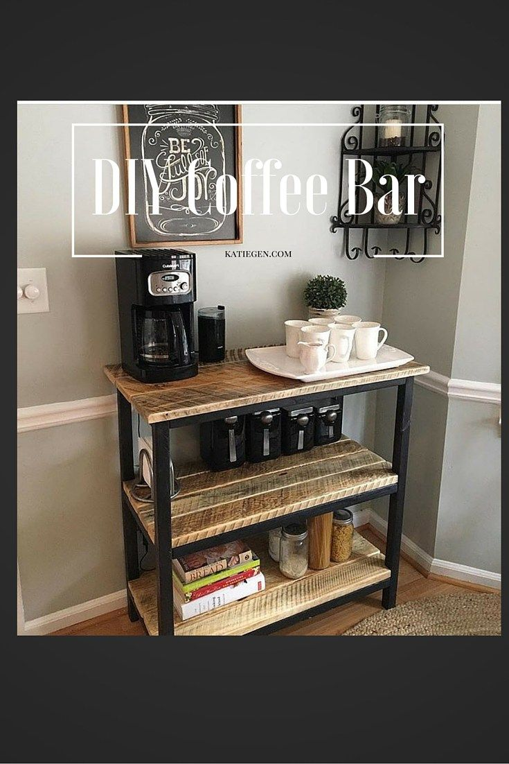 Make your own coffee bar this weekend pinterest bar for Countertop coffee bar ideas