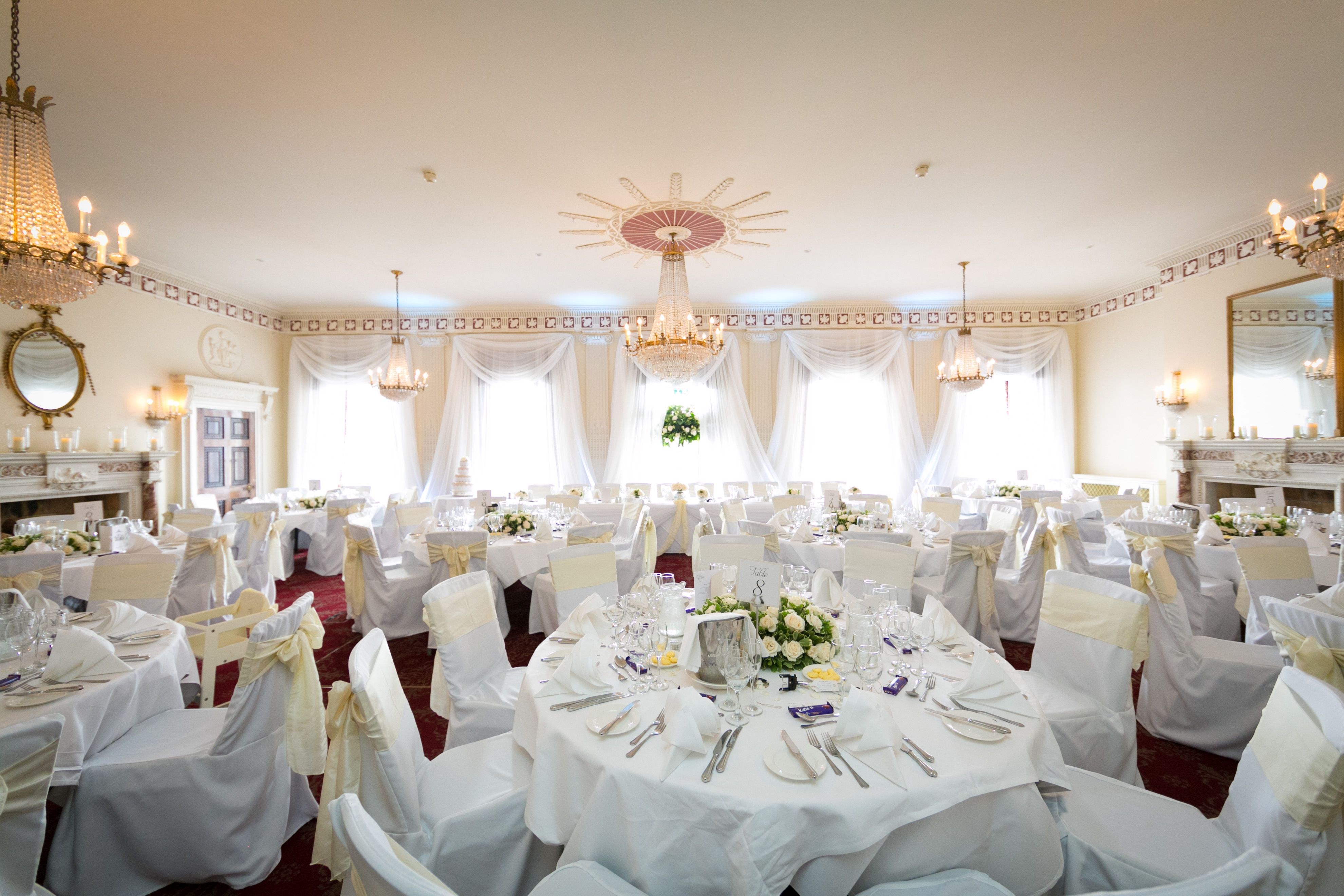 buxted park hotel - ballroom wedding reception flowers- pollen ...