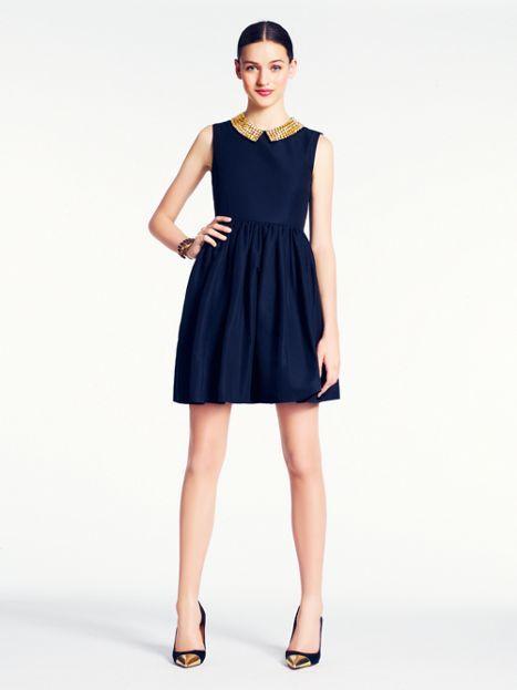 Beaded contrast color Kate Spade dress