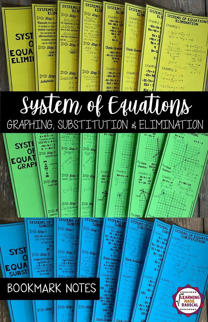 System of Equations (Graphing, Elimination & Substitution