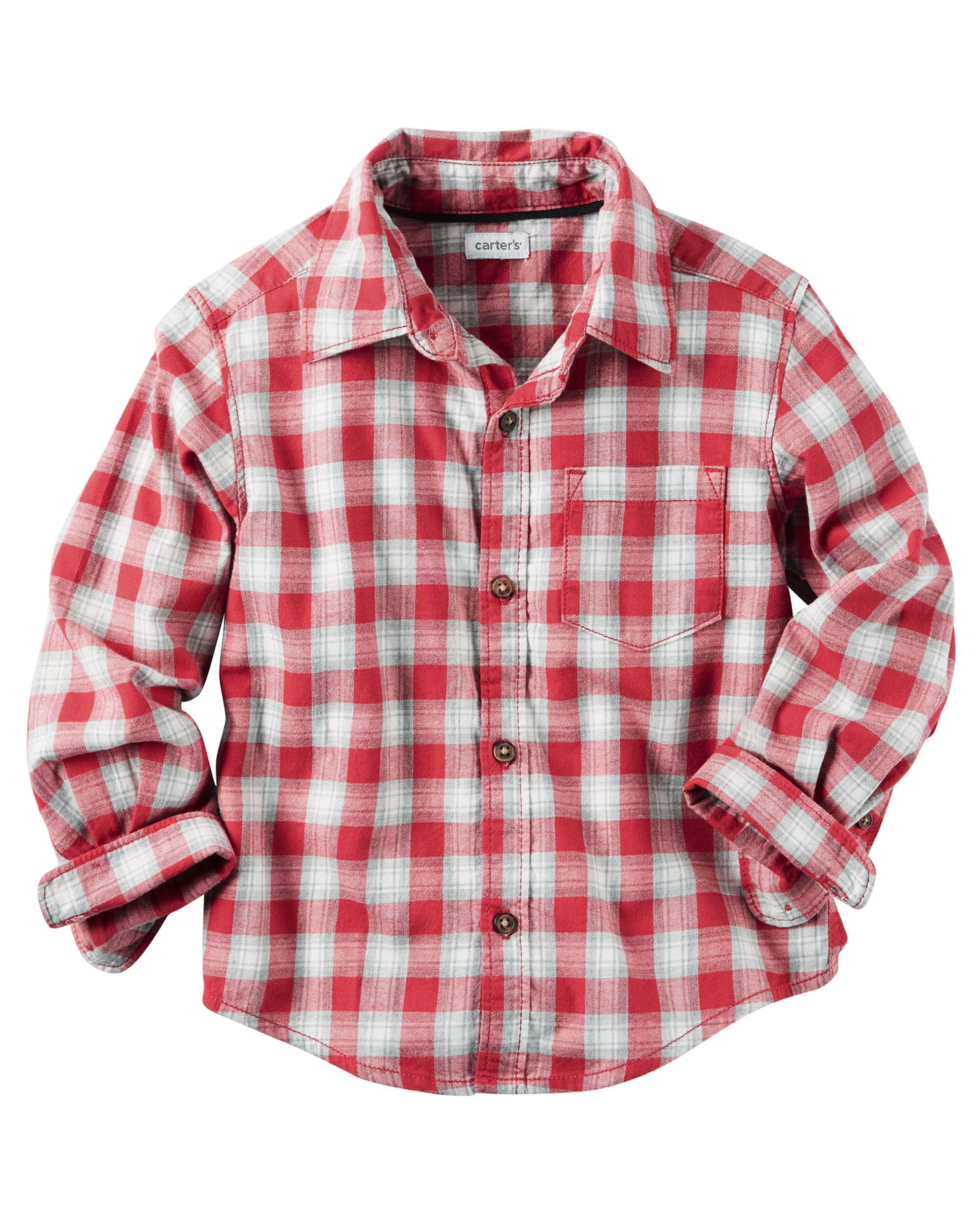 73c32013ee7a Toddler Boy Plaid Button-Front Shirt from Carters.com. Shop clothing    accessories from a trusted name in kids