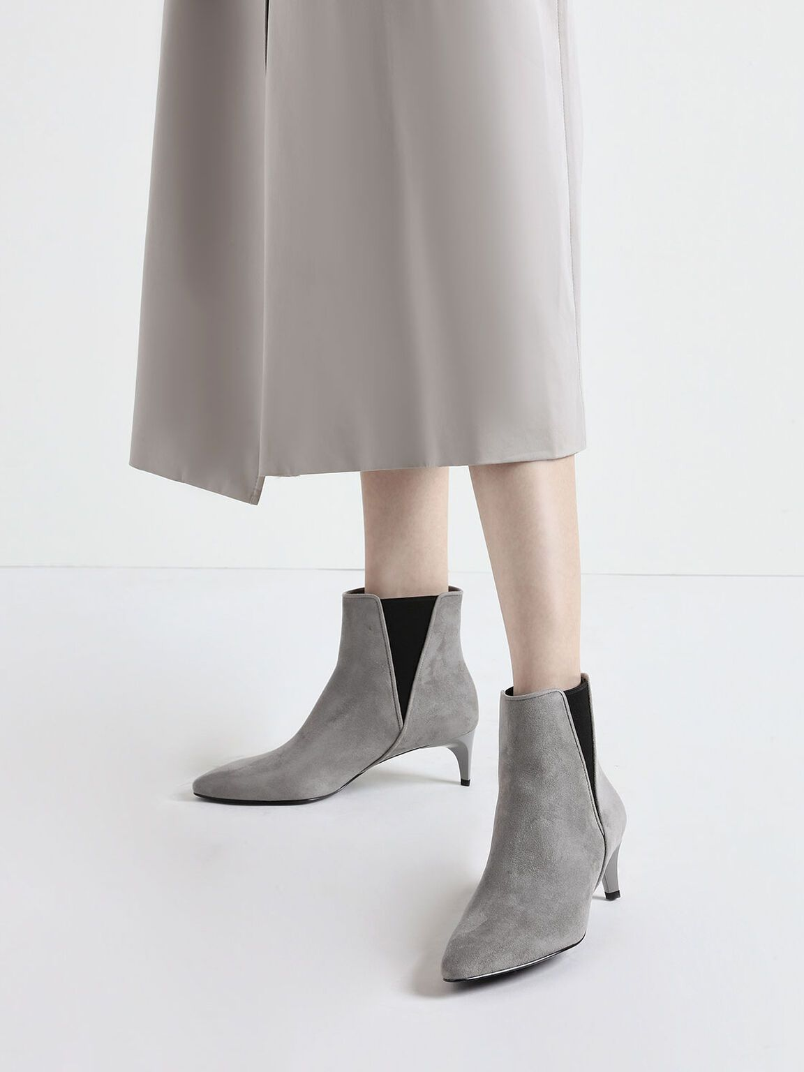 Red Kitten Heel Chelsea Boots Charles Keith Us Kitten Heels Kitten Heel Shoes Red Kitten Heels